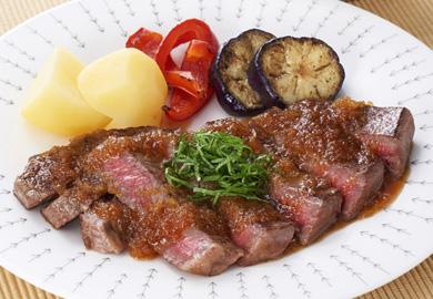 牛肉のステーキ おろしぽん酢