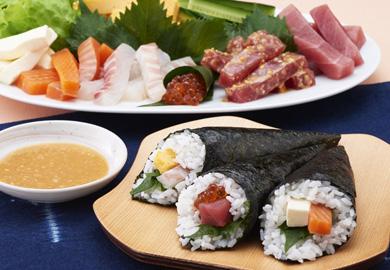 味噌だれの手巻き寿司