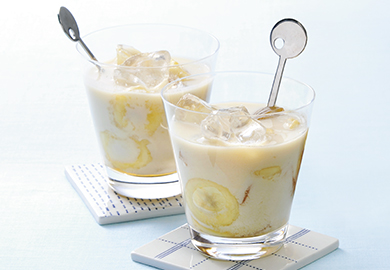 もろみ酢のはちみつバナナミルク
