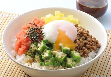 5色納豆丼