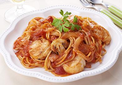 帆立のトマトパスタ
