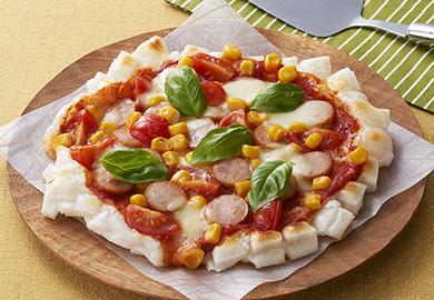 カリカリ餅ピザ