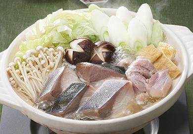 ぶりの鶏塩鍋