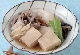 高野豆腐と牛肉のすき煮