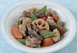 鶏肉と根菜の炒り煮 はちみつ風味
