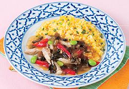 豚肉と野沢菜のあんかけザーサイ炒飯