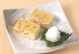豆腐とにんじんの厚焼きたまご