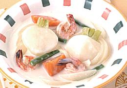 かぶとえびのホワイトソース煮