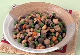 鶏肉と大豆の五目煮