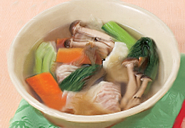 ツナワンタンと大根のスープ