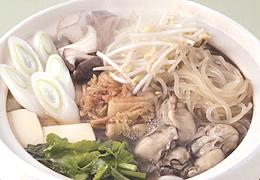 かきとせりの韓国風鍋