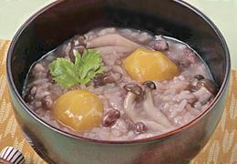 小豆と栗のおかゆ