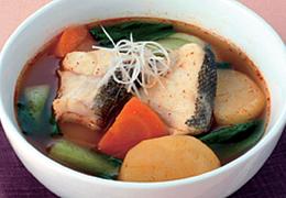 たらとじゃがいもの韓国風スープ