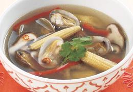 あさりのエスニック風スープ