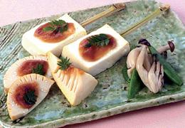 たけのこと豆腐の味噌マヨネーズ焼き