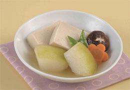とうがんと高野豆腐の含め煮