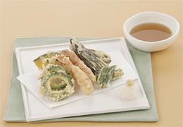 えびと夏野菜の天ぷら