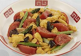 トマトとたまごの中華風炒め