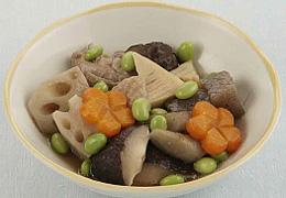 鶏肉と枝豆の煮物