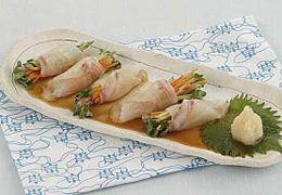 白身魚の野菜巻き ぽん酢がけ