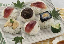 野菜の彩り手まり寿司