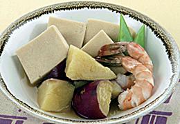 さつまいもと高野豆腐の煮物