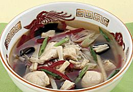 鶏肉と帆立の中華スープ