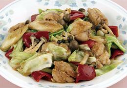 鶏肉と長ねぎの中華風みそ炒め