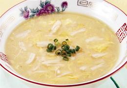 帆立入り中華風コーンスープ
