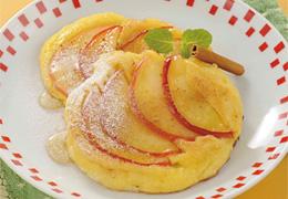りんごのホットケーキ シナモン風味