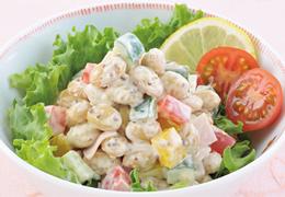 豆と野菜の粒マスタードサラダ