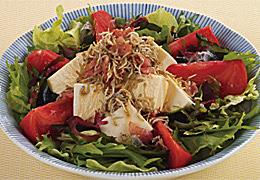 豆腐の揚げじゃこサラダ