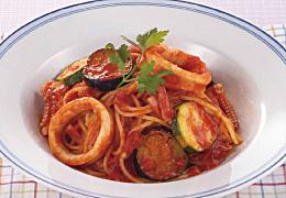 いかとなすのトマトスパゲティ