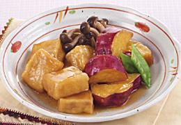高野豆腐とさつまいもの煮物