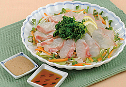 菜の花と鯛のサラダ仕立て