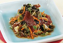 かつおの韓国風サラダ