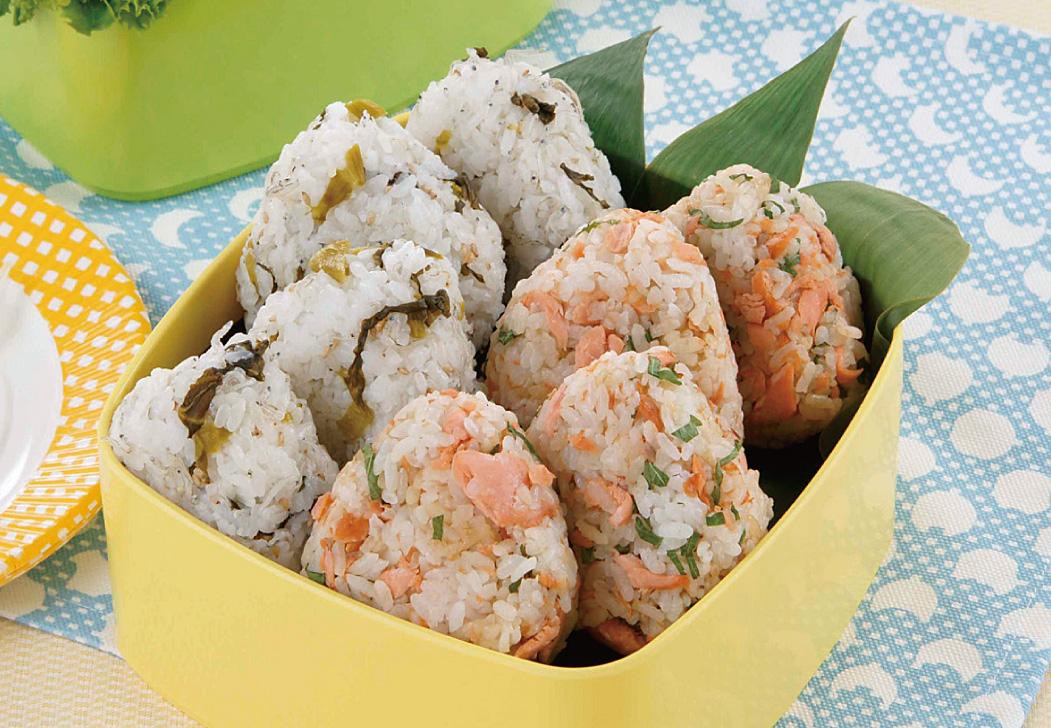 2種のおにぎり弁当(鮭&大葉・高菜&ちりめん)