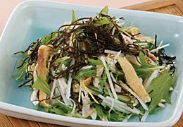 水菜と大根の昆布サラダ