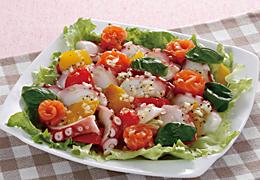 たことカラフル野菜のマリネ風サラダ