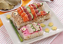 鯉のぼりのデコちらし寿司