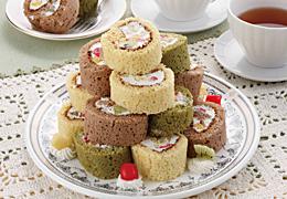 プチロールのタワーケーキ