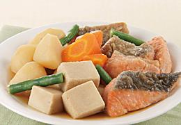 鮭と高野豆腐の煮物