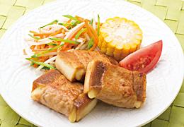高野豆腐の肉巻きステーキ