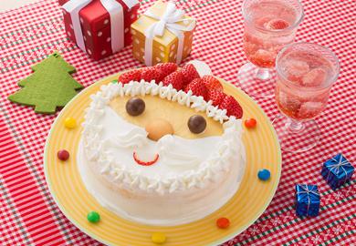 サンタのショートケーキ