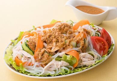レンジ棒々鶏サラダ