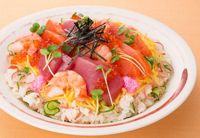 ぽん酢のさっぱりちらし寿司