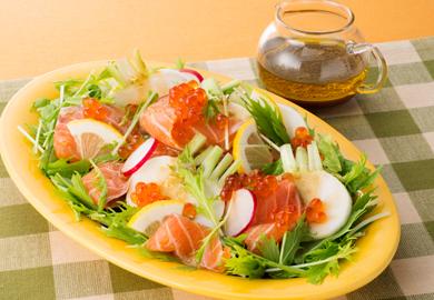 サーモンとかぶのカルパッチョ風サラダ