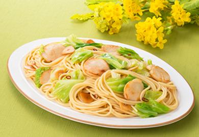 春キャベツと帆立貝のスパゲッティ
