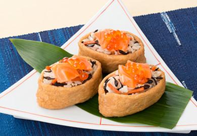鮭とひじきのいなり寿司