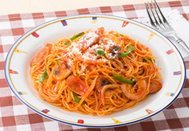 スパゲッティナポリタン風
